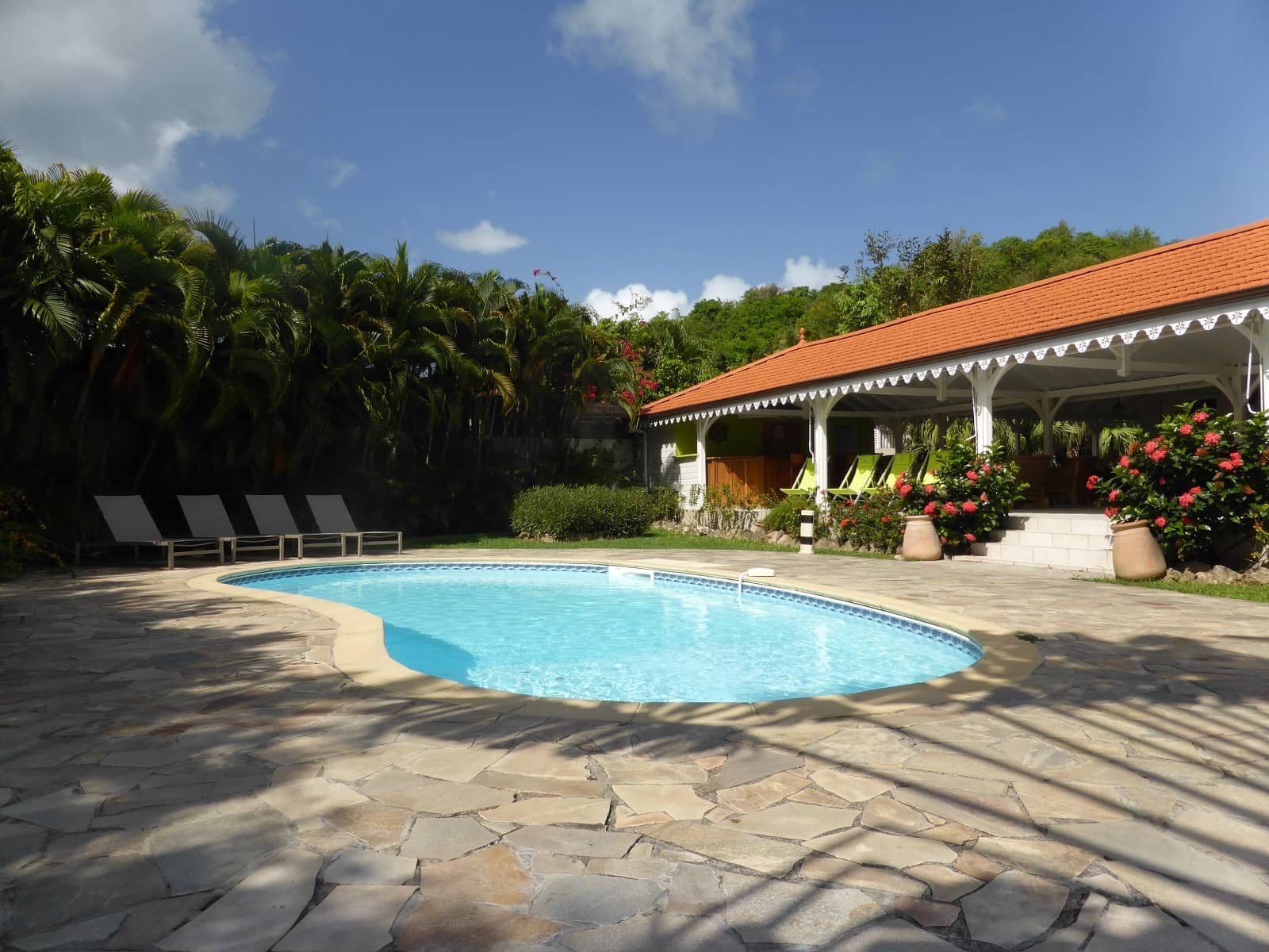 Location villa avec piscine sainte anne martinique villa for Piscine martinique